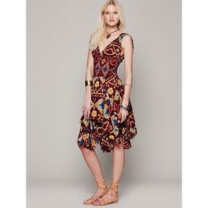 Free people one bandhani wisteria dress